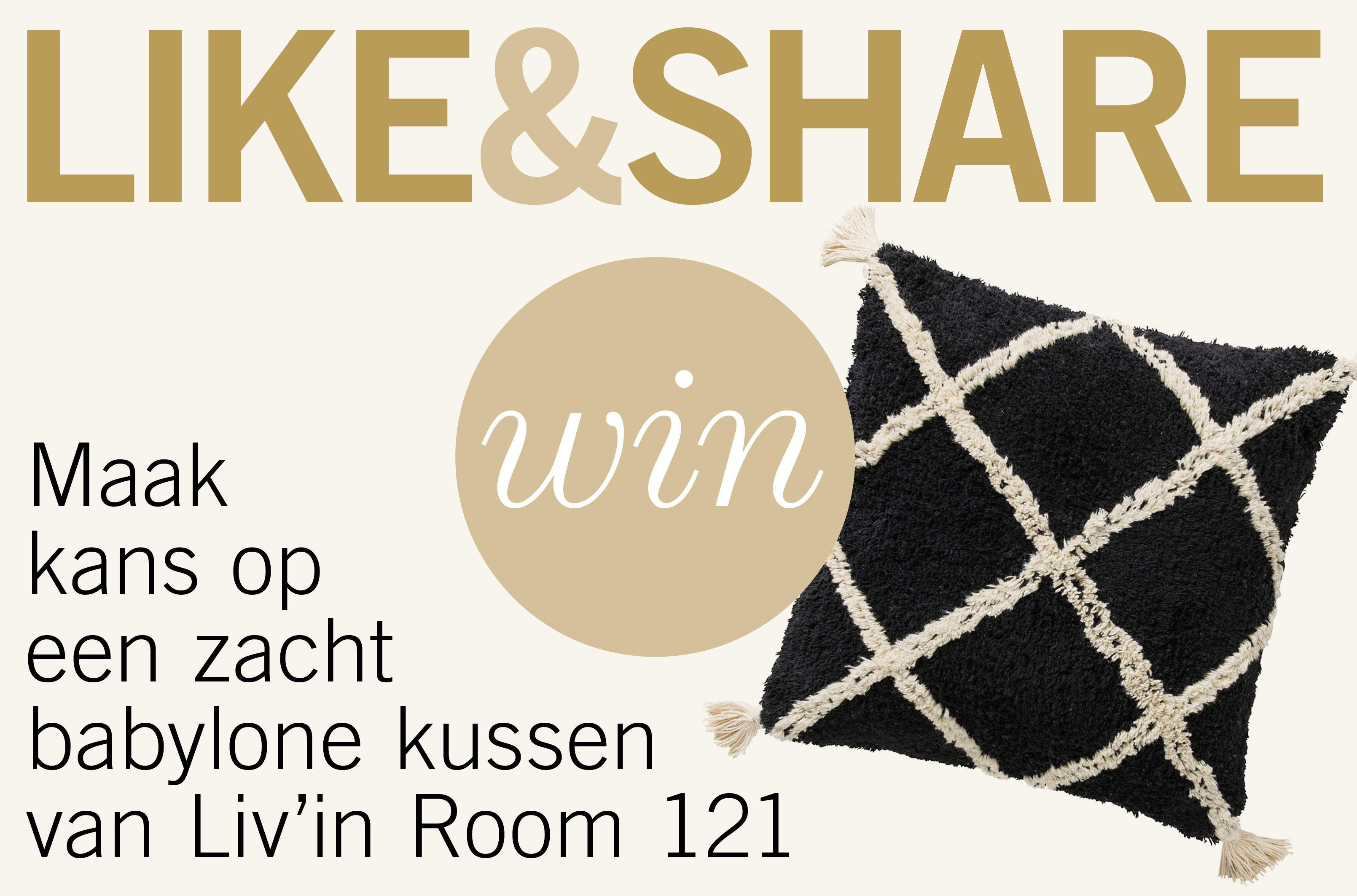 Maak kans op een zacht babylone kussen van Liv'in Room 121